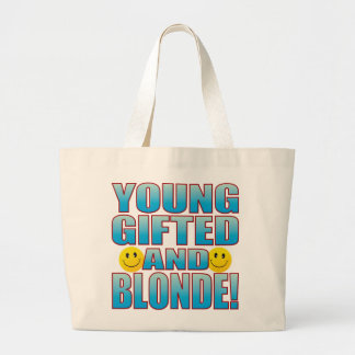 Young Blonde Life B Large Tote Bag