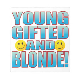 Young Blonde Life B Notepad