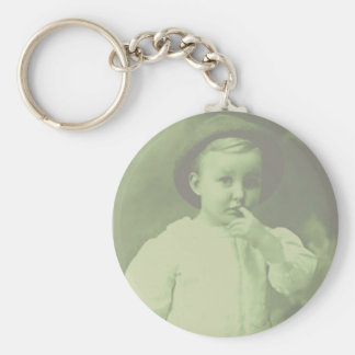 Young Bowler Basic Round Button Keychain