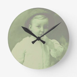 Young Bowler Round Clock
