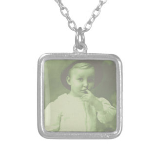 Young Bowler Silver Plated Necklace