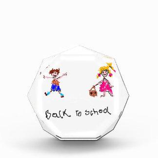 Young Boy and Girl - Back To School Acrylic Award