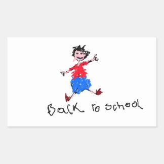 Young Boy - Back To School Rectangular Sticker