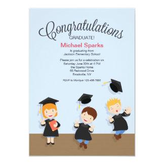 Young Boy Graduate Graduation Invitation