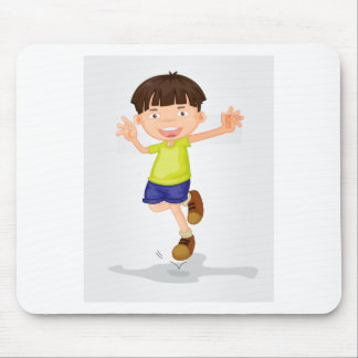 Young boy mouse pad