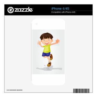 Young boy decals for the iPhone 4