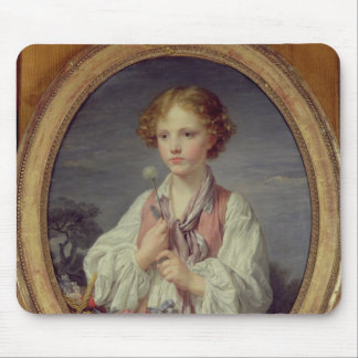 Young Boy with a Basket of Flowers Mouse Pad