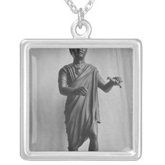Young boy with a bird, late Republican Silver Plated Necklace