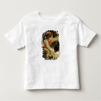 Young Boy with Birds in the Snow Toddler T-shirt
