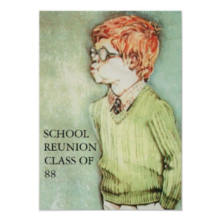 Young Boy with Red Hair School Reunion Invitation