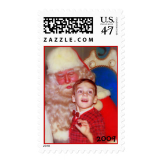 Young Boy with Santa - Wonder and Amazement Postage