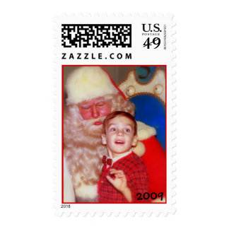 Young Boy with Santa - Wonder and Amazement Stamps