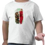 Young boy wrapping Christmas lights around a dog T Shirt