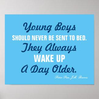 Young Boys nunca debe… poster de la cita de Peter