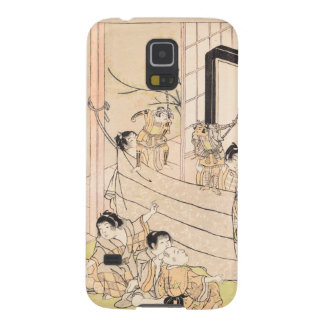 Young Boys Performing Puppet Show Kitao Shigemasa Cases For Galaxy S5