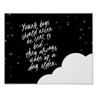 Young Boys Should Never... Peter Pan Wall Decor