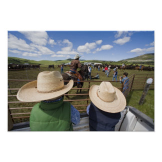 Young boys take in the 2007 Hughes Ranch Poster