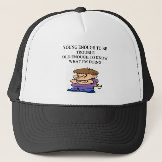 young brat son and daughter designs trucker hat