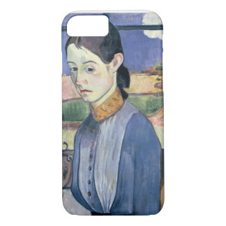Young Breton Woman, 1889 (oil on canvas) iPhone 8/7 Case