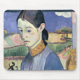 Young Breton Woman, 1889 (oil on canvas) Mouse Pad