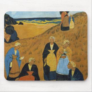 Young Breton Women wearing Shawls Mouse Pad