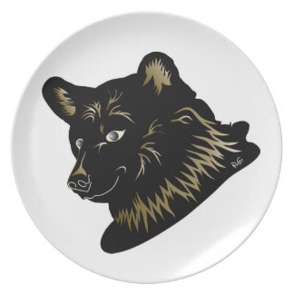 young brown bear from Switzerland plate
