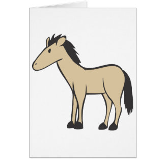 Young Brown Horse Greeting Cards
