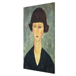 Young Brunette, 1917 (oil on canvas) Canvas Print