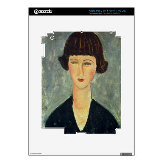 Young Brunette, 1917 (oil on canvas) Decals For iPad 3