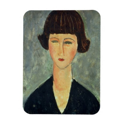 Young Brunette, 1917 (oil on canvas) Magnet