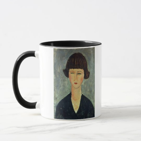Young Brunette, 1917 (oil on canvas) Mug