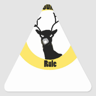 Young Buck Rule Triangle Stickers