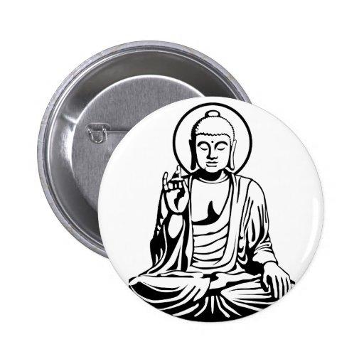 Young Buda No.1 (black) Pins