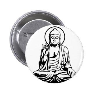 Young Buddha No.1 (black) Pinback Button
