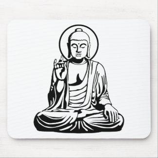 Young Buddha No.1 (black) Mousepads