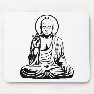 Young Buddha No.1 (black white) Mouse Pads