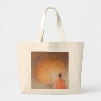 Young Buddhist Monk and Gong Bhutan 2010 Large Tote Bag