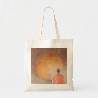 Young Buddhist Monk and Gong Bhutan 2010 Tote Bag