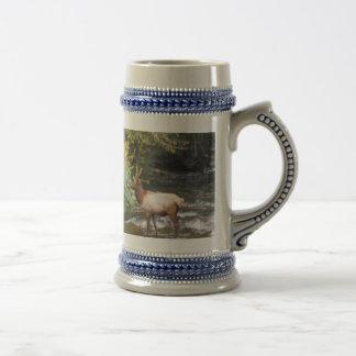Young Bull  Elk in Velvet Antlers, Crossing Creek Beer Stein