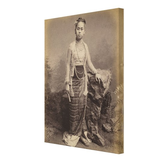 Young Burmese girl, c.1875 Canvas Print