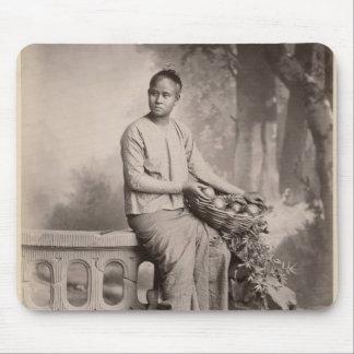 Young Burmese girl, c.1880 Mouse Pad