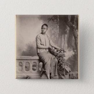 Young Burmese girl, c.1880 Pinback Button