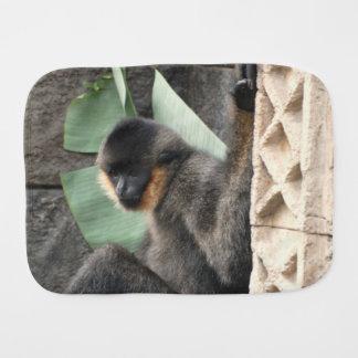 Young Capuchin Monkey Baby Burp Cloths