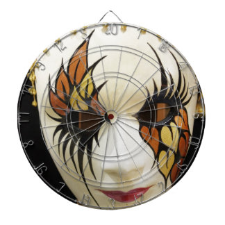 Young Ceramic Carnival Mask Dartboard With Darts