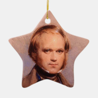 Young Charles Darwin Portrait Star Ornament