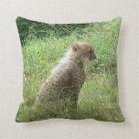 young cheetah throw pillow