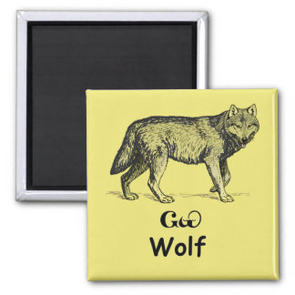 Young Cherokee Wolf Refrigerator Magnet