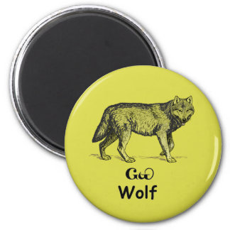 Young Cherokee Wolf Fridge Magnet
