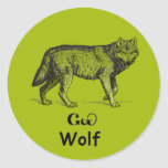 Young Cherokee Wolf Sticker