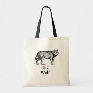 young cherokee wolf tote bag